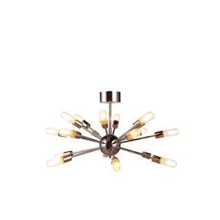 Elegant Lighting Cork Collection 1135 Pendant Lamp with Polished Nickel Finish