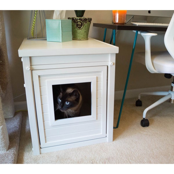Genial EcoFLEX Litter Loo Hidden Kitty Litter Box End Table