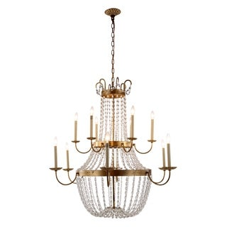 Roma Collection 1433 Pendant Lamp with Golden Iron Finish