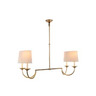 Avanti Collection 1432 Pendant Lamp with Golden Iron Finish