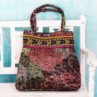 Handcrafted Embellished 'Celebration of Color' Shoulder Bag (India)