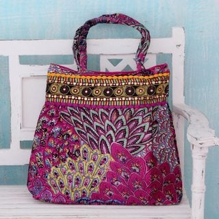 Handcrafted Embellished 'Festive Mood' Shoulder Bag (India)