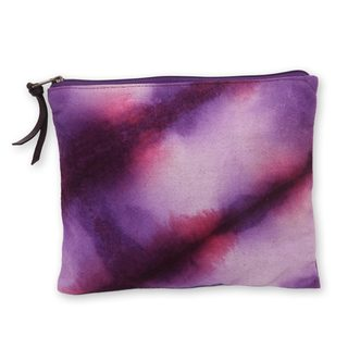 Hand-dyed Cotton 'Jogjakarta Orchids' Clutch Handbag (Indonesia)