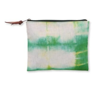 Handmade Cotton 'Rawa Pening Shores' Clutch Handbag (Indonesia)