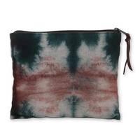 Handmade Cotton 'Island of Java' Clutch Handbag (Indonesia)