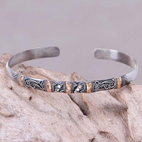 Handmade Sterling Silver 'Eden in Bali' Bracelet (Indonesia)