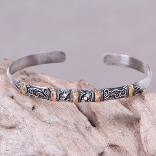 Handcrafted Sterling Silver 'Eden in Bali' Bracelet (Indonesia)