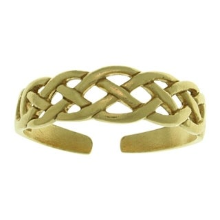 Carolina Glamour Collection Gold-Plated .925 Sterling Silver Celtic Knot Toe Ring