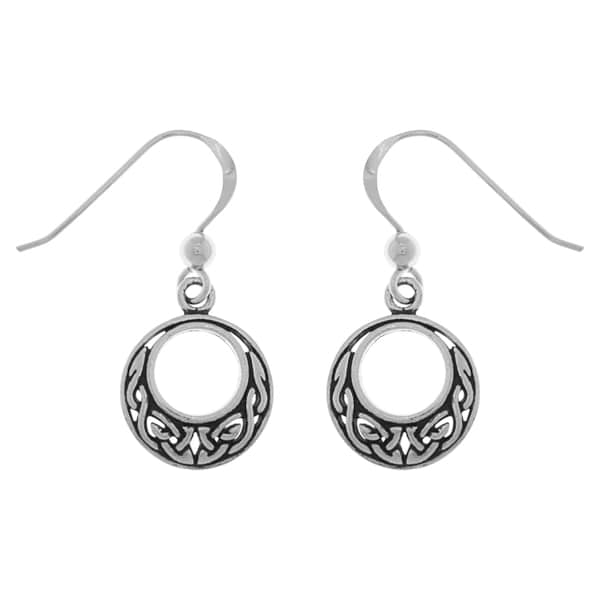 39106d97d Shop Sterling Silver Small Celtic Knot Round Dangle Earrings - Free ...