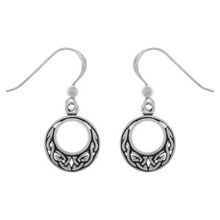 Sterling Silver Small Celtic Knot Round Dangle Earrings