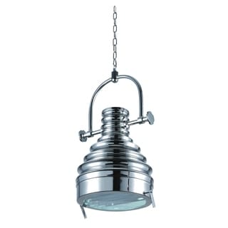 Elegant Lighting Industrial Collection Pendant lamp with Brushed Nickel Finish
