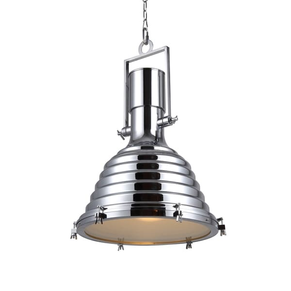 Elegant Lighting Industrial Collection Pendant lamp with Chrome Finish