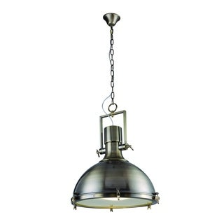 Elegant Lighting Industrial Collection Pendant lamp with Antique Brass Finish