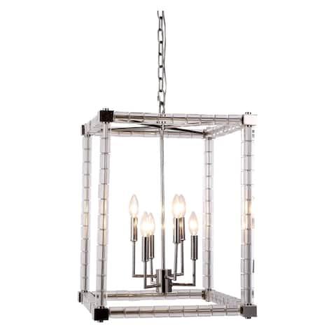 Elegant Lighting Cristal Collection 1461 Pendant Lamp with Polished Nickel Finish