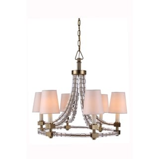 Elegant Lighting Cristal Collection 1460 Pendant lamp with Burnished Brass Finish