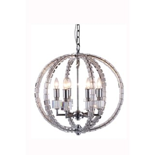 Elegant Lighting Cristal Collection 1460 Pendant lamp with Polished Nickel Finish