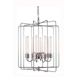 Elegant Lighting Lewis Collection 1454 Pendant lamp with Polished Nickel Finish