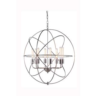 Link to Elegant Lighting Vienna Collection 1453 Pendant lamp with Polished Nickel Finish Similar Items in Pendant Lights
