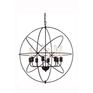 cf858c2149 Elegant Lighting Vienna Collection 1453 Pendant lamp with Dark Bronze Finish
