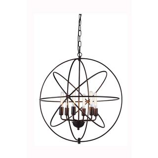 Elegant Lighting Vienna Collection 1453 Pendant lamp with Dark Bronze Finish