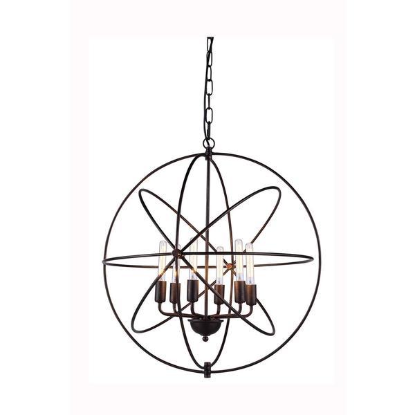 Elegant Lighting Vienna Collection 1453 Pendant lamp with Dark Bronze Finish. Opens flyout.