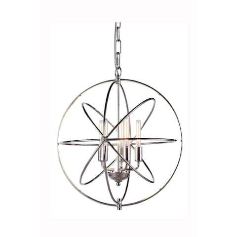 Elegant Lighting Vienna Collection 1453 Pendant lamp with Polished Nickel Finish