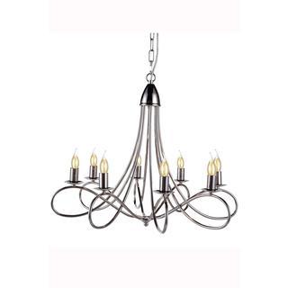 Elegant Lighting Lyndon Collection 1452 Pendant lamp with Polished Nickel Finish