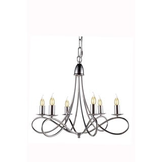 Elegant Lighting Lyndon Collection 1452 Pendant lamp with Polished Nickel Finish