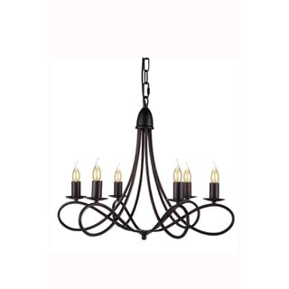 Elegant Lighting Lyndon Collection 1452 Pendant lamp with Dark Bronze Finish