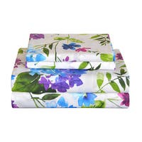 Pointehaven 200 Thread Count Printed Percale Sheet Set