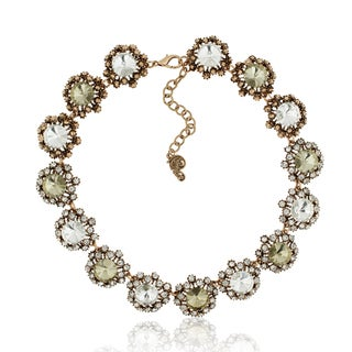 Adoriana Floral Crystal Collar Necklace