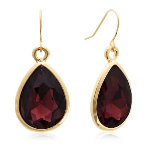 Adoriana Pear Shape Marsala Crystal Earrings, Gold Over Brass