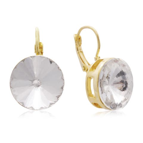 Adoriana Crystal Earrings, Gold Over Brass