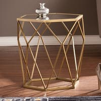Harper Blvd Judy Geometric Gold Accent Table