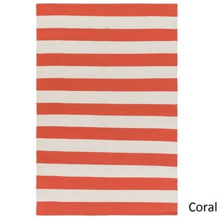 Buy Coral Color Block Area Rugs Online At Overstock Com Our Best