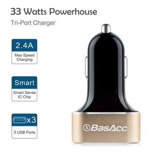 BasAcc 2-pack MFi Lightning USB Cable/ 2-Port 4.8A AC Wall/ 3-Port 6.6A Car Charger for Apple iPhone 6/ 6+/ 5/ iPad Air/ Mini