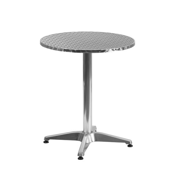23.5 Inch Round Aluminum Indoor/ Outdoor Table With Base
