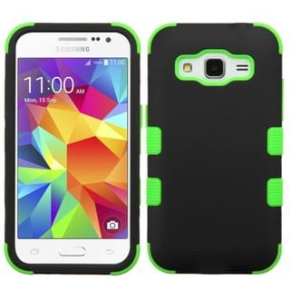 Insten Tuff Hard PC/ Silicone Dual Layer Hybrid Rubberized Matte Phone Case Cover For Samsung Galaxy Core Prime
