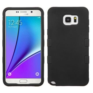 Insten Tuff Hard PC/ Silicone Dual Layer Hybrid Rubberized Matte Phone Case Cover For Samsung Galaxy Note 5