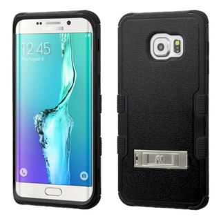 Insten Hard PC/ Silicone Dual Layer Hybrid Rubberized Matte Phone Case Cover with Stand For Samsung Galaxy S6 Edge Plus