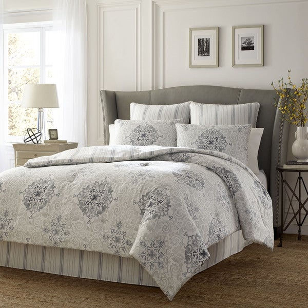 Stone Cottage Valencia Graphite Cotton Sateen 4-piece Comforter Set