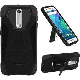 Insten Hard PC/ Silicone Dual Layer Hybrid Phone Case Cover with Stand For Motorola Moto X Style