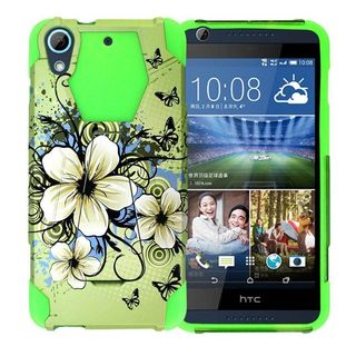 Insten Design Pattern Hard PC/ Silicone Dual Layer Hybrid Phone Case Cover with Stand For HTC Desire 626/ 626s