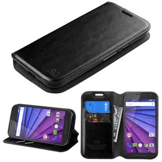 Insten Leather Phone Case Cover with Stand/ Wallet Flap Pouch For Motorola Moto G 3rd Gen