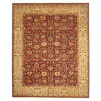 Herat Oriental Indo Hand-knotted Tabriz Wool Rug (8' x 10') - 8' x 10'