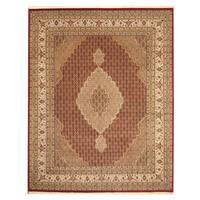 Herat Oriental Indo Hand-knotted Tabriz Wool & Silk Rug - 8'2 x 10'3
