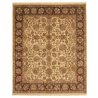 Herat Oriental Indo Hand-knotted Mahal Wool Rug (8'1 x 9'8)