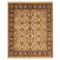 Handmade Herat Oriental Indo Mahal Wool Rug  - 8'1 x 9'8 (India)