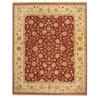 Herat Oriental Indo Hand-knotted Oushak Wool Rug (8' x 10')