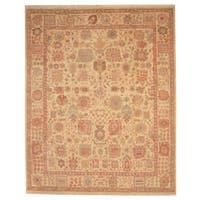 Handmade Herat Oriental Indo Oushak Wool Rug  - 8'2 x 10' (India)